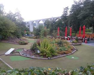 Adventure Golf next to the Viaduct