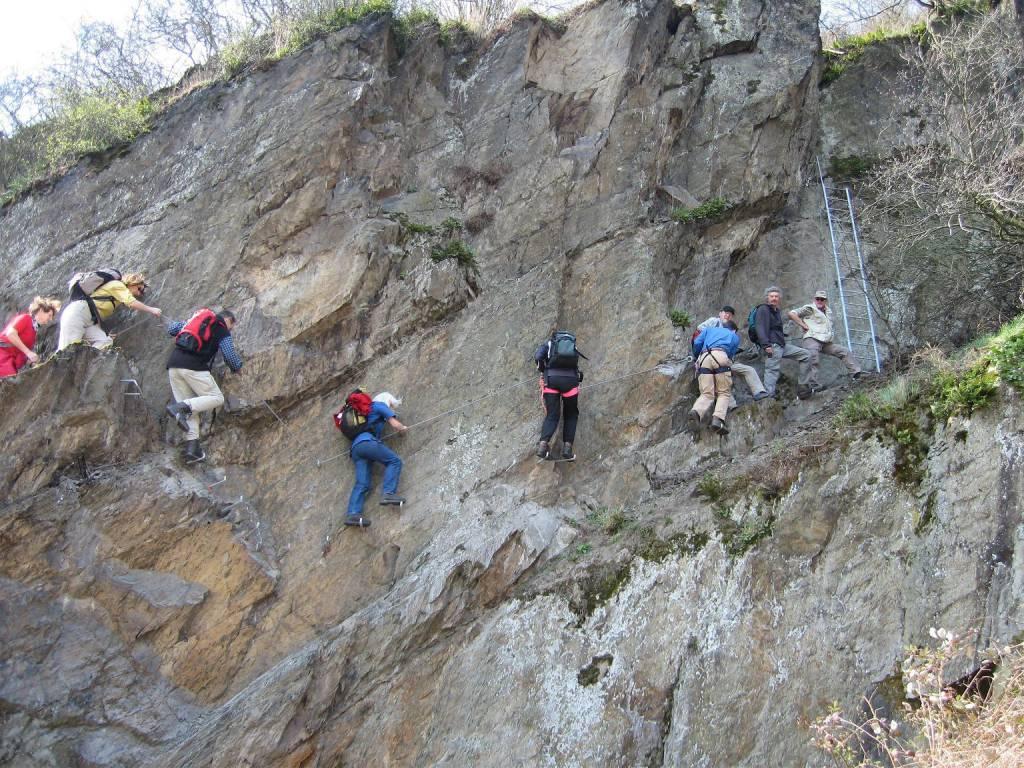 Klettersteig Ostschweiz : Ausflugsziel mittelrhein klettersteig in boppard doatrip